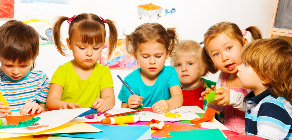 Kids Making Art in Preschool
